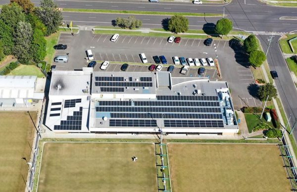 SunPeople dapto citizens bowling club 99kW solar installation