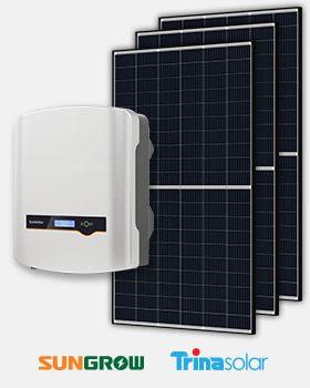 Sungrow Inverter TrinaSolar panels